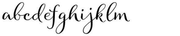 Allegretto Script Font LOWERCASE
