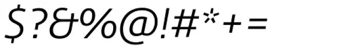 Aller Light Italic Font OTHER CHARS