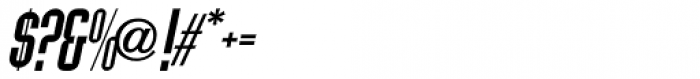 Allerton Oblique Font OTHER CHARS