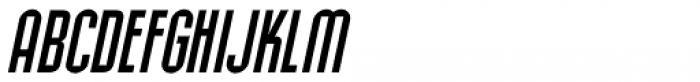 Allerton Oblique Font UPPERCASE