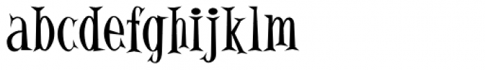Alleycat ICG Font LOWERCASE