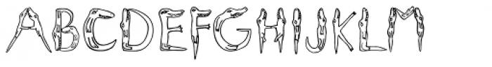Alligators Regular Font UPPERCASE
