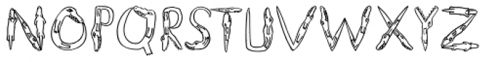 Alligators Font UPPERCASE