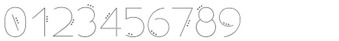 Allioideae Dot Regular Font OTHER CHARS