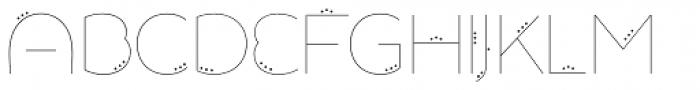 Allioideae Dot Regular Font UPPERCASE