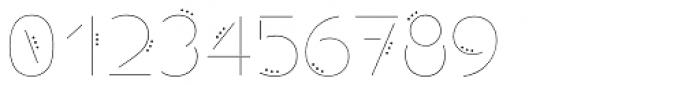 Allioideae Stencil Dot Regular Font OTHER CHARS