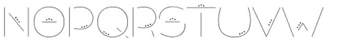 Allioideae Stencil Dot Regular Font UPPERCASE