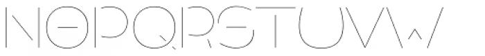 Allioideae Stencil Regular Font UPPERCASE