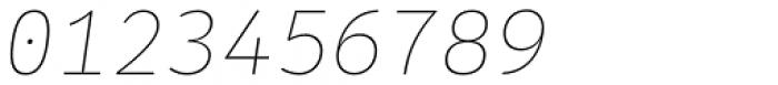 Alloca Mono Extra Light Italic Font OTHER CHARS