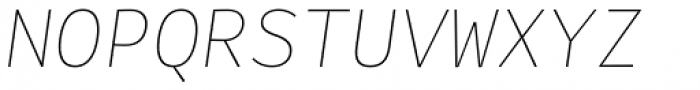 Alloca Mono Extra Light Italic Font UPPERCASE