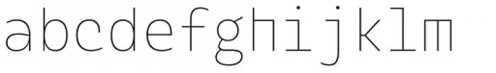 Alloca Mono Extra Light Font LOWERCASE