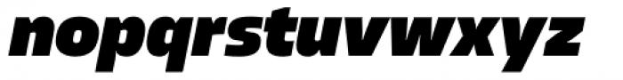 Allotrope Black Italic Font LOWERCASE