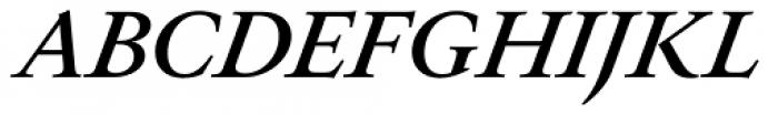 Allrounder Antiqua Medium Italic Font UPPERCASE
