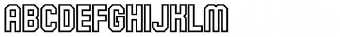 Alma Mater Outline Font UPPERCASE