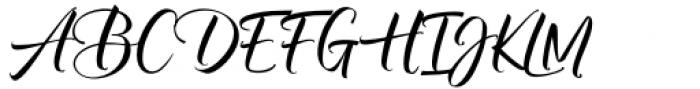 Almere Script Regular Font UPPERCASE
