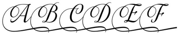 Almibar Swash 1 Font UPPERCASE