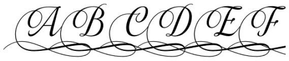Almibar Swash 2 Font UPPERCASE
