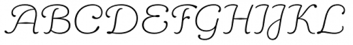 Aloe Thin Font UPPERCASE