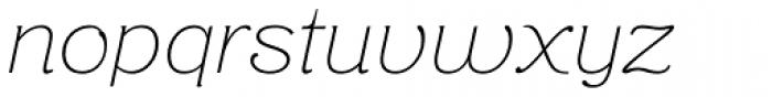 Aloe Thin Font LOWERCASE