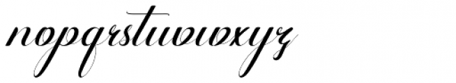Alone Forever Italic Font LOWERCASE
