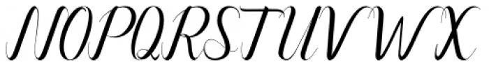 Alone Forever Regular Font UPPERCASE