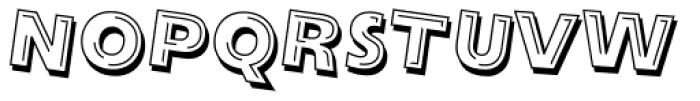Alphabet Soup Tilt Font UPPERCASE