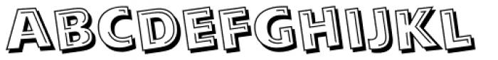 Alphabet Soup Tilt Font LOWERCASE