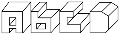Alphabit Blocks Font UPPERCASE