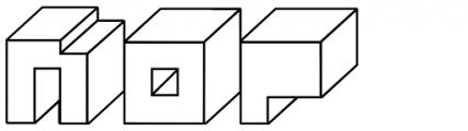 Alphabit Blocks Font LOWERCASE