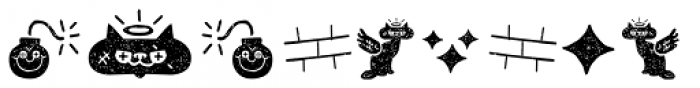 Alquitran Pro Dingbat Character Dirt Two Font UPPERCASE