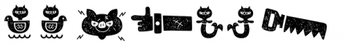 Alquitran Pro Dingbat Character Dirt Two Font LOWERCASE