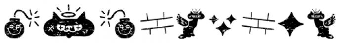 Alquitran Pro Dingbat Character Dirt Font UPPERCASE