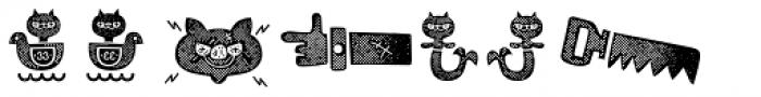 Alquitran Pro Dingbat Character Texture Font LOWERCASE