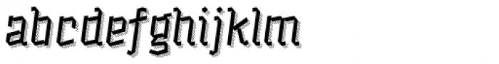 Alquitran Pro Regular More Shadow Lines Font LOWERCASE