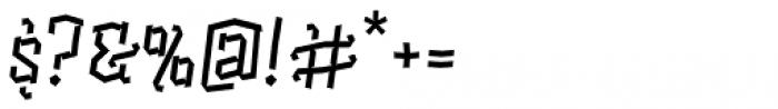 Alquitran Pro Regular Font OTHER CHARS