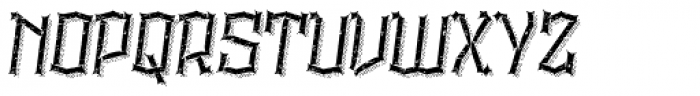 Alquitran Rust Destroy More Shadow Line Font UPPERCASE
