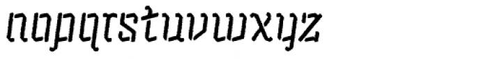 Alquitran Stencil Regular Rough Font LOWERCASE