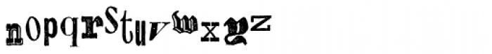 Alta California Font LOWERCASE