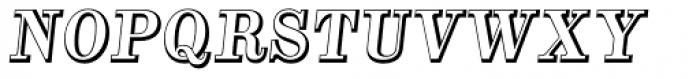 Alta Mesa Open Regular Italic Font UPPERCASE