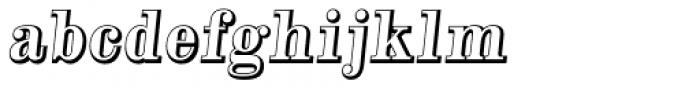 Alta Mesa Open Regular Italic Font LOWERCASE