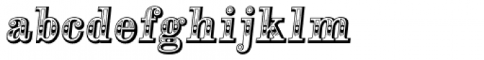 Alta Mesa Regular Italic Font LOWERCASE