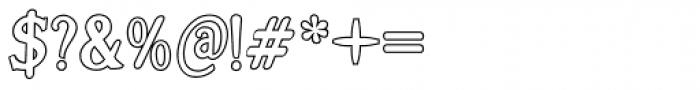 Alta Outline Font OTHER CHARS