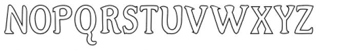 Alta Outline Font UPPERCASE