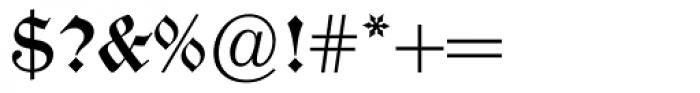 Alte Schwabacher BQ Font OTHER CHARS