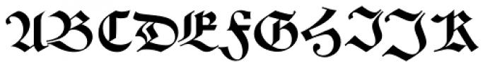 Alte Schwabacher BQ Font UPPERCASE