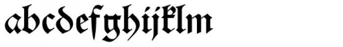 Alte Schwabacher BQ Font LOWERCASE