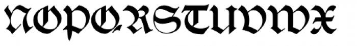 Alte Schwabacher EF Regular Dfr Font UPPERCASE