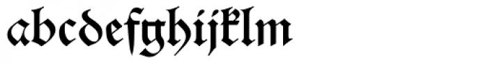 Alte Schwabacher EF Regular Dfr Font LOWERCASE