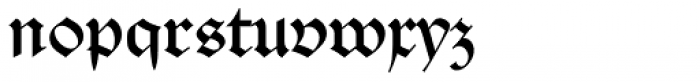 Alte Schwabacher EF Regular Font LOWERCASE