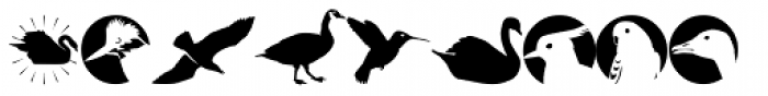Altemus Birds Two  Font LOWERCASE